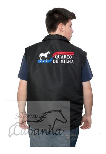 jaqueta quarto de milha abqm laço comprido vaquejada cavalo