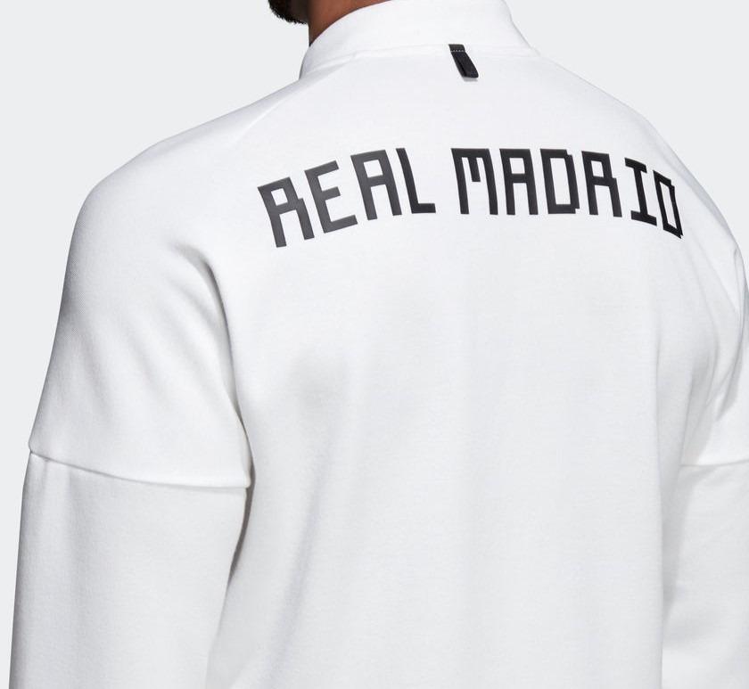 Jaqueta Real Madrid Branca Esportiva adidas Zne - R  359 a991719940e03