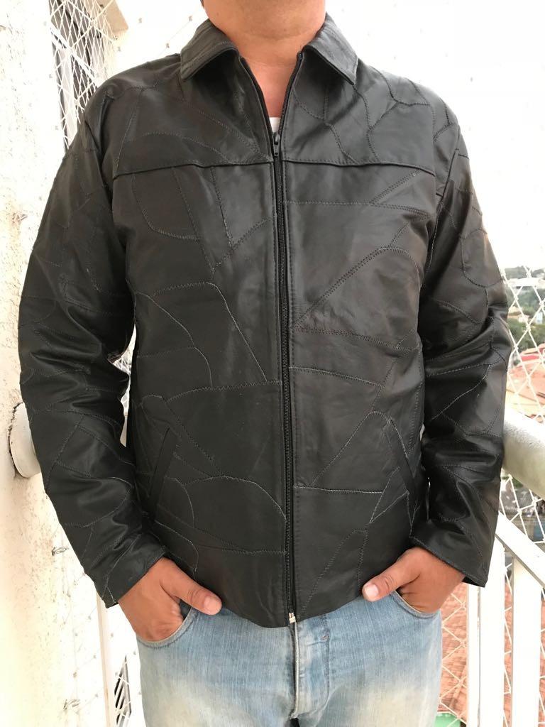 d41937c1a jaqueta retalhos blusa casaco couro legítimo masculino. Carregando zoom.