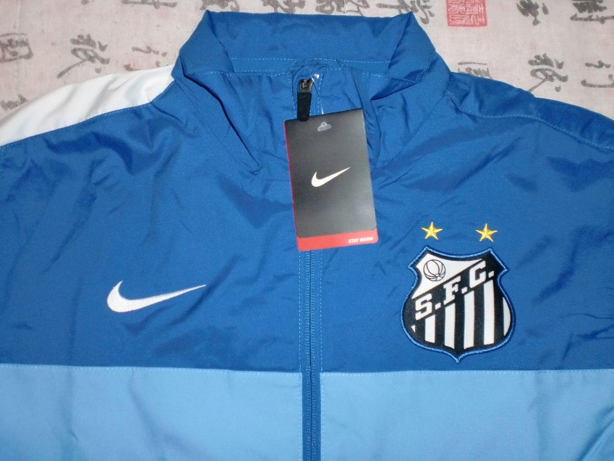 Jaqueta Santos Nike De Zíper Azul  Azul Clara Tamanho M Nova - R ... 921a296f33058