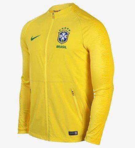 Jaqueta Seleção Brasileira Nike Hino Copa 2018 Frete Grátis - R ... 520dfa386385e