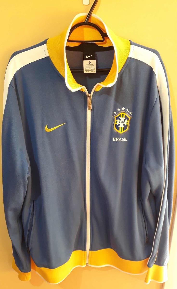 893f118a3d jaqueta seleção brasileira nike n98 - azul - tamanho gg. Carregando zoom.