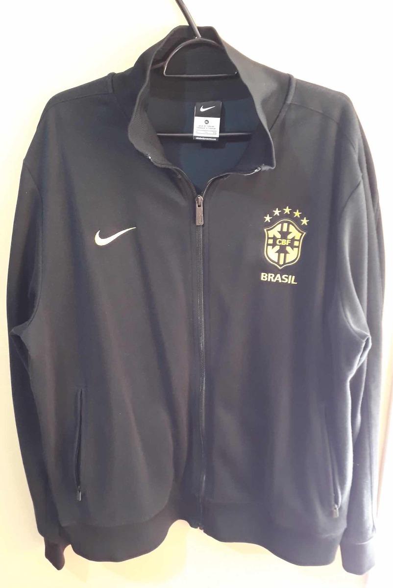 034195db1e jaqueta seleção brasileira nike n98 - preta - tamanho gg. Carregando zoom.