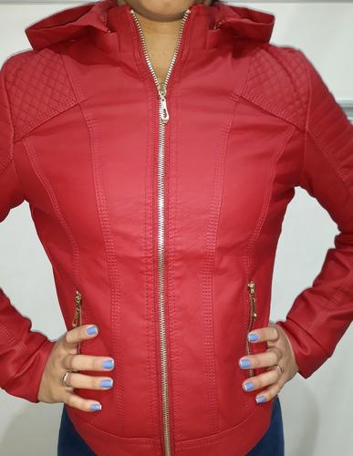 jaqueta slim feminina couro ecológico - super oferta