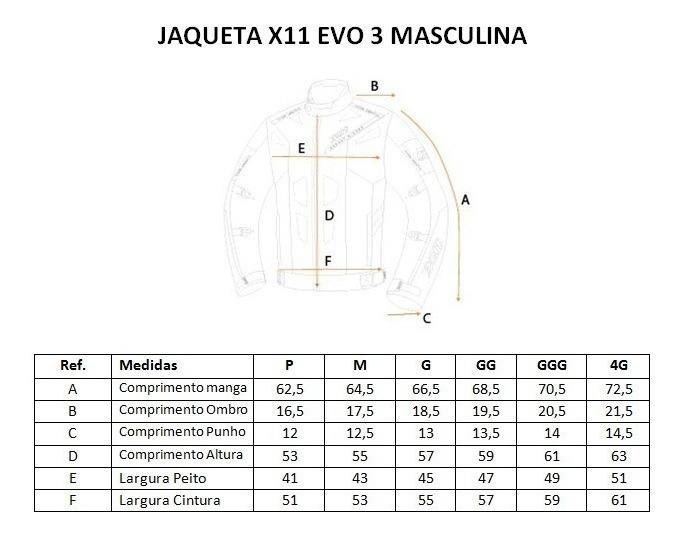 Jaqueta X11 Evo 3 Masculina 100% Impermeável Moto Pto Verm * - R$ 799,90 em  Mercado Livre