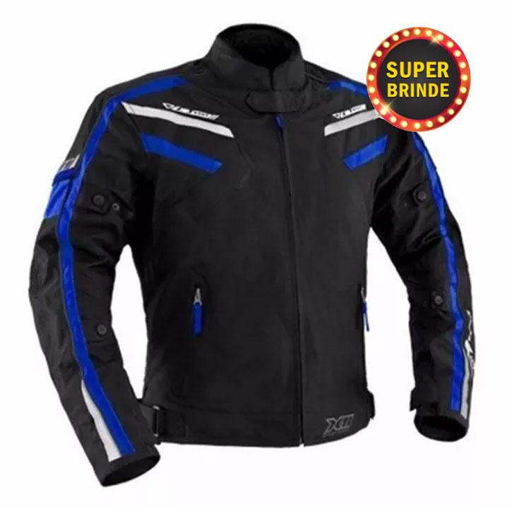 Jaqueta X11 Iron Preto Azul Motociclista M Impermeável Moto - R  319 ... 2626435181174
