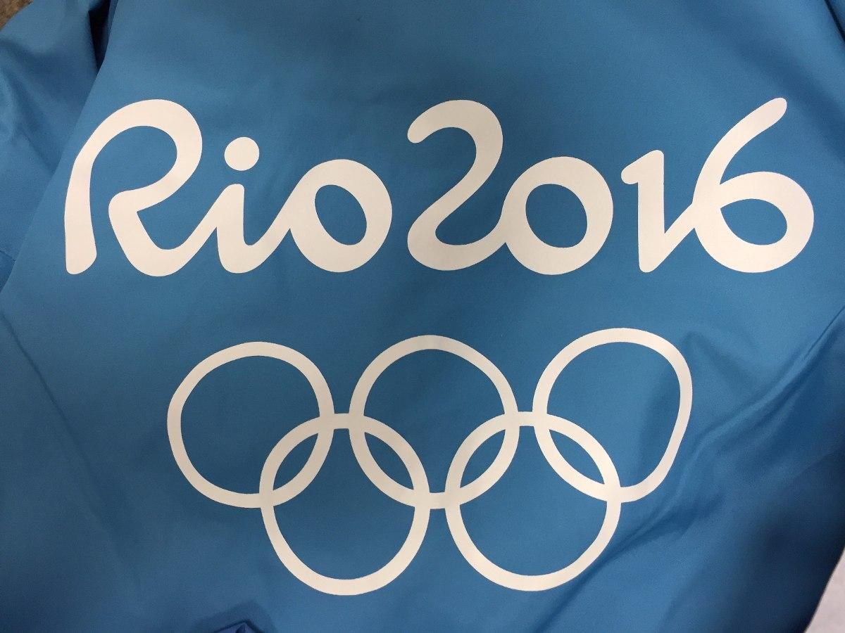 jaqueta casaco uniforme azul olimpíadas rio 2016 - ganhe pin. Carregando  zoom. f439451654c93