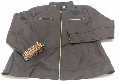 jaquetas couro ecologico feminina pluz size an-6