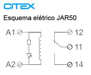 jar50 ( tar501 ) 110vca modulo acoplador interface rele