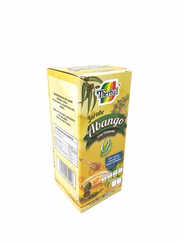 jarabe de abango con propoleo 0% azúcar 240ml therbal