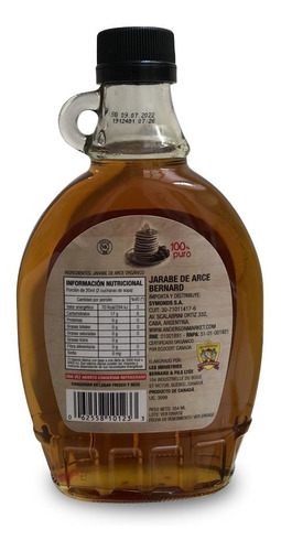jarabe de arce maple syrup amber bernard 354ml