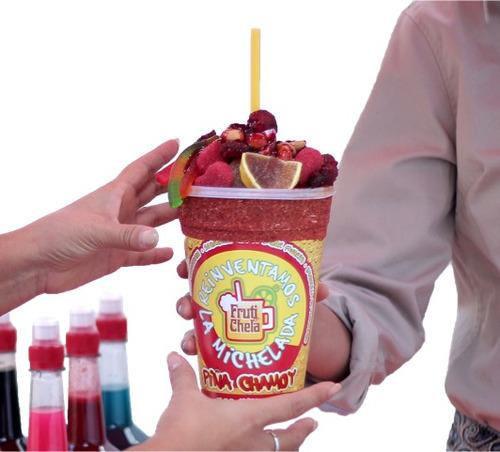 jarabes p/ micheladas. caja con 15 sabores  envio gratis