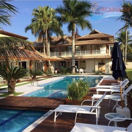 jardim acapulco 1 - próximo portaria - 4000 metros - 6 suítes !!! - ca0239