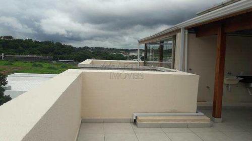 jardim de trento| cobertura duplex 110 m² 3 dorms churrasqueira - v6024