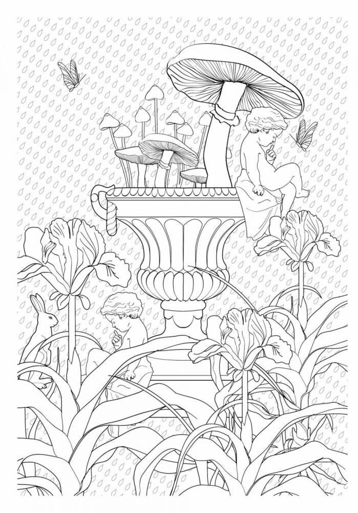 Jardim Encantado Livro De Colorir Antiestresse R 19 90 Em