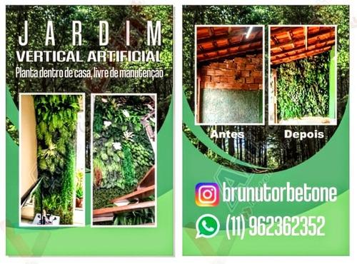 jardim vertical artificiais, planta dentro de casa.