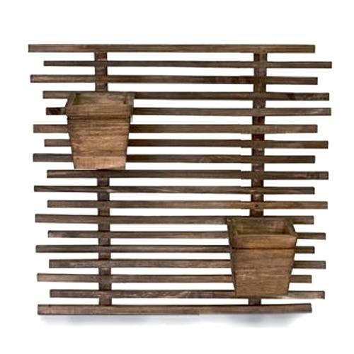 jardim vertical floreira  2 cachepot vaso madeira pinus 3577