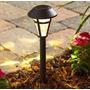 Lampara Solar Led Para Jardin 6 Unid.color Bronce Con Estaca