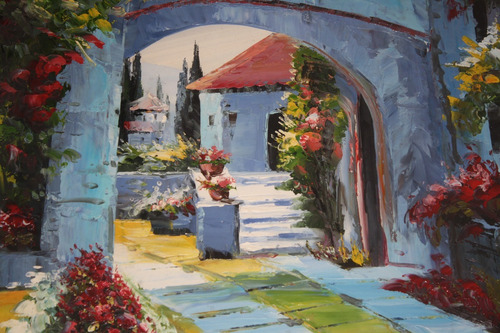 jardín arte cuadro