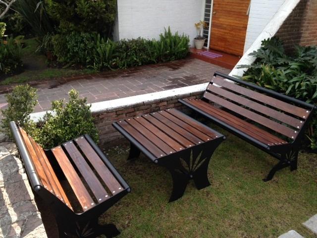 Muebles para jardin bancas y mesa originales 14 000 for Mobiliario jardin terraza