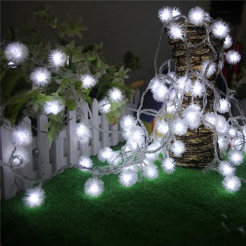 jardín de la boda partido navidad hada borla nieve led