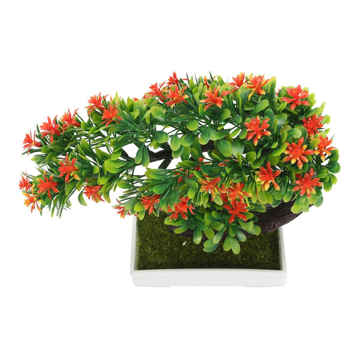 Olla Planta Artificial Decoración de árbol Bonsai Hogar Oficina Con Ventana Jardín