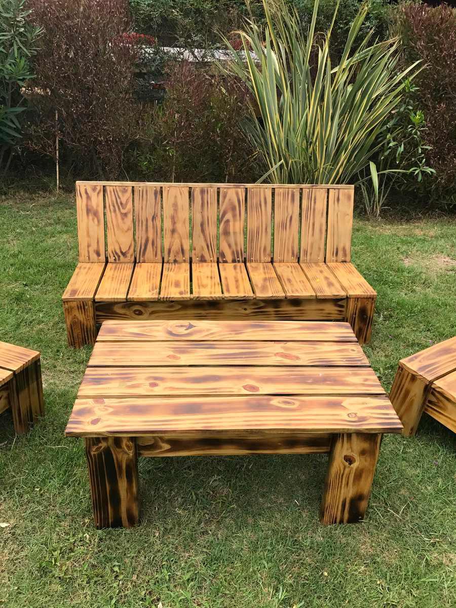 Sillones de jardin juego de madera para exterior interior for Sillones de jardin de madera