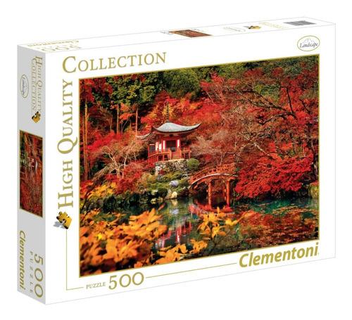 jardin japones otoño 500 pz rompecabezas clementoni