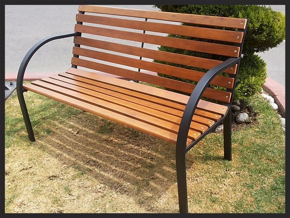 Banca jardin madera tratada para exterior pino 1 000 - Bancos para exterior de jardin ...