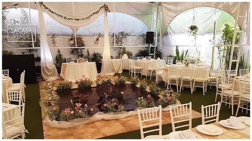 jardin para pequeñas reuniones familiares y empresariales