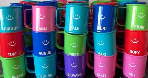 jardin  tazas plasticas  personalizadas
