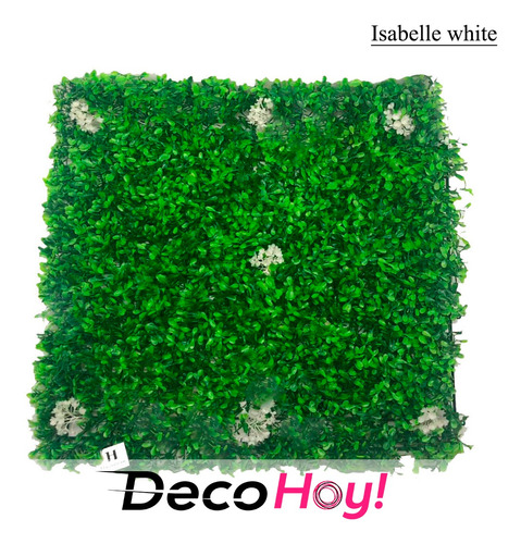 jardin vertical artificial. isabelle blanco 50x50cm.haussman