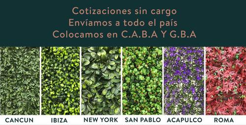 jardín vertical artificial muro verde panel- san pablo 25x25