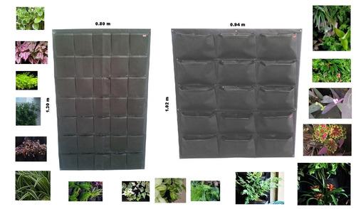 jardin vertical pockets  x 1 m2 mp oferta!! jardines