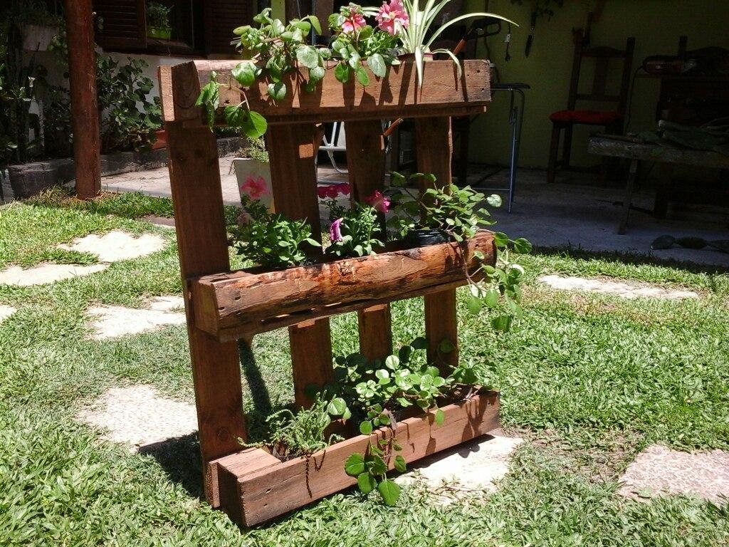 Jardines verticales con palets amazing jardineras con for Jardin vertical casero palet