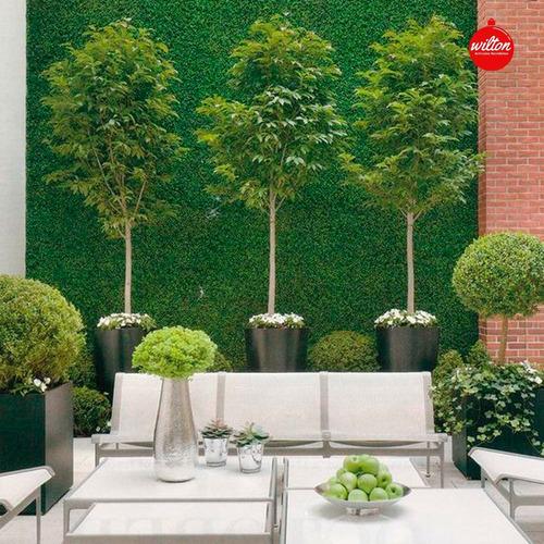 jardín vertical x 10 premium 60x40 muro verde césped- wilton