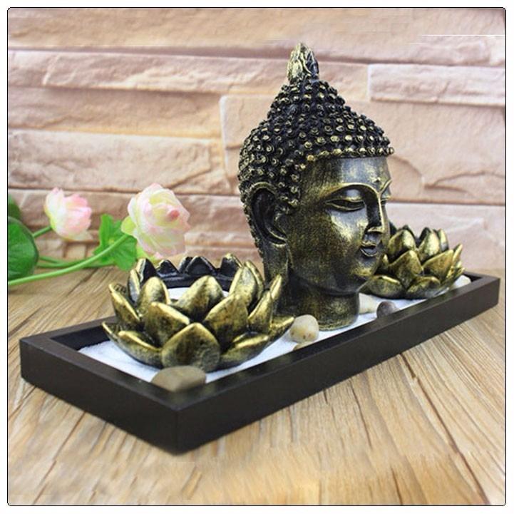 Jardin zen cabeza de buda india feng shui arena en mercado libre - Arena para jardin zen ...