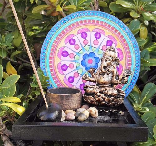 Jardin zen minitura de ganesh, decoracion, budismo con vela ...