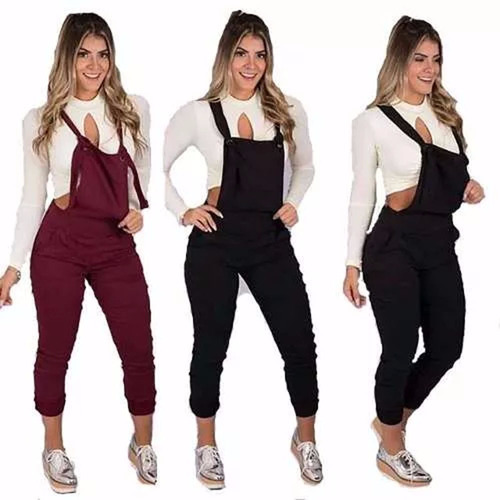 jardineira calça bruna marquezine feminina