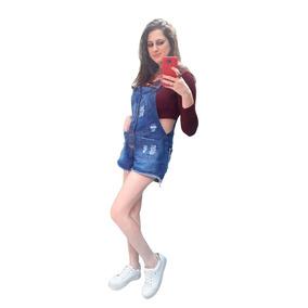 604599b5e Jardineira Feminina Jeans Longa Boyfriend - Calçados, Roupas e Bolsas no  Mercado Livre Brasil