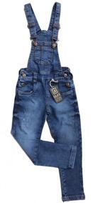 4159866eccfb46 Jardineira Jeans Comprida Infantil Menino 1 2 3 4 6 8