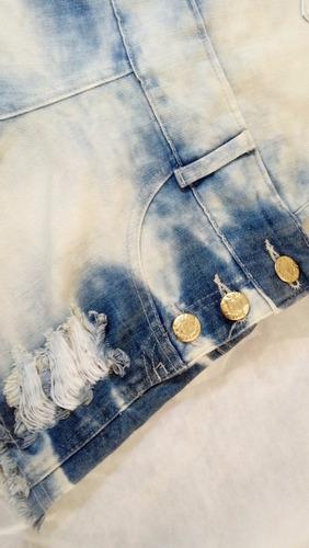 jardineira jeans feminina adulto