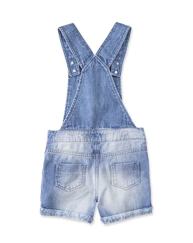 f78baebb8c Jardineira Jeans Infantil Feminina Hering Kids C6t4jejpr - R  129