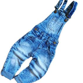 19cfd47f3202eb Jardineira Jeans Longa Infantil