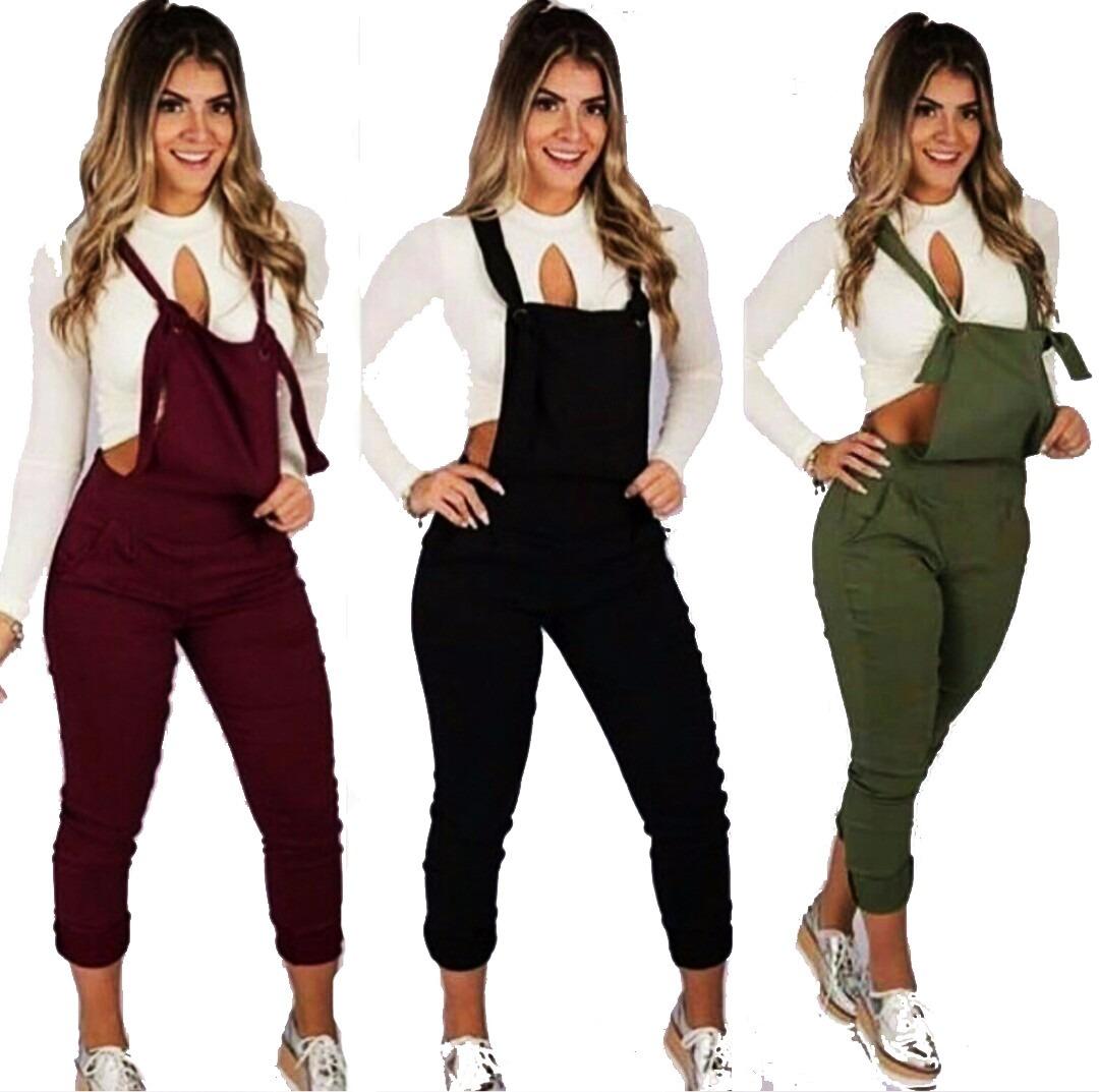 f089e5148 jardineira longa feminina detalhes ilhos moda blogueira. Carregando zoom.