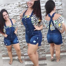 886e8623b Macaquinho Manga Longa Jeans Plus Size - Calçados, Roupas e Bolsas com o  Melhores Preços no Mercado Livre Brasil
