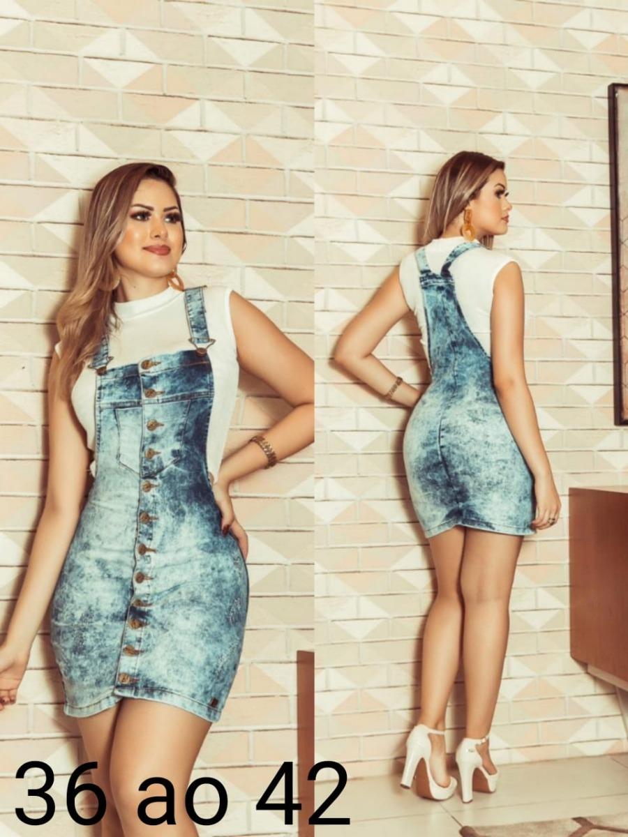 7635524ec Jardineira Ou Salopete Jeans Ref46 - R$ 140,00 em Mercado Livre