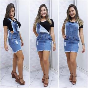 e7251ff93 Jardineira Jeans Saia Curta - Calçados, Roupas e Bolsas no Mercado Livre  Brasil