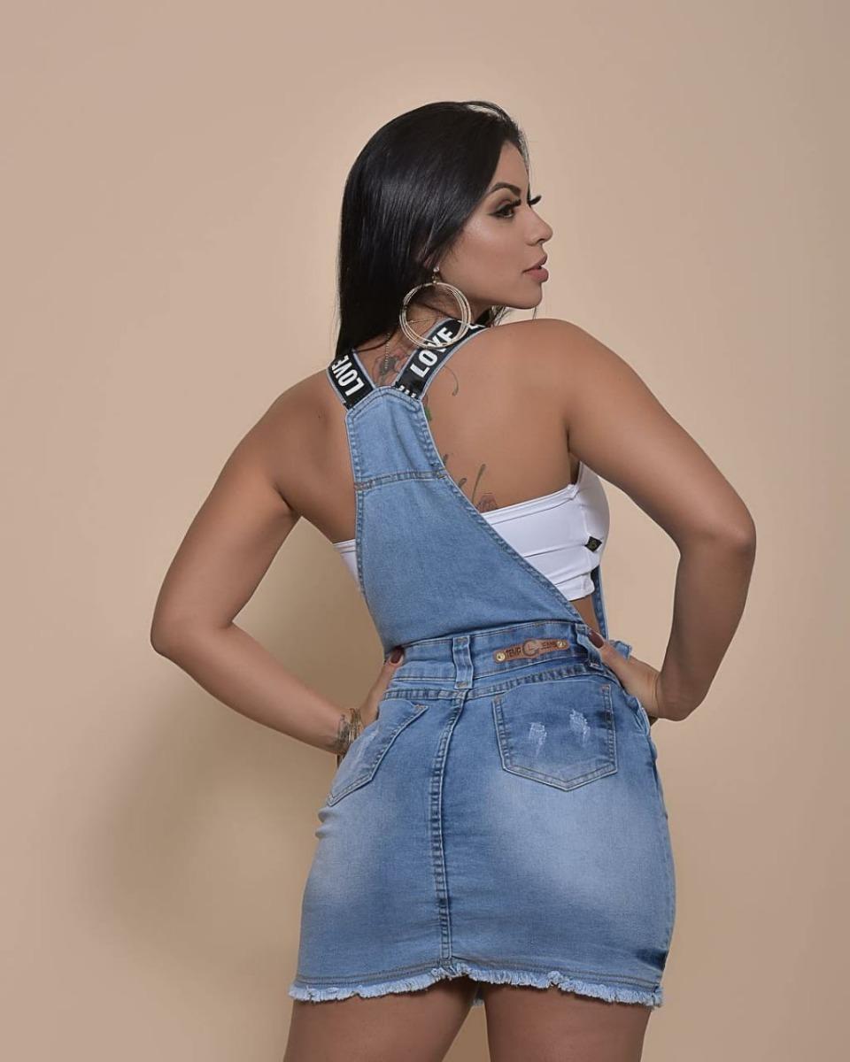 be9124878 jardineira saia jeans roupas femininas shorts verão 2019. Carregando zoom.