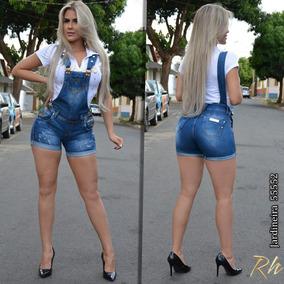 3a1517b28 Jardineira Short Saia Pitbull Jeans - Calçados, Roupas e Bolsas no ...
